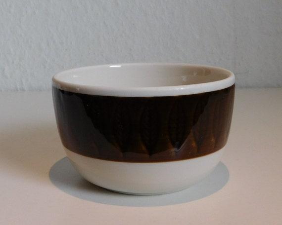 Rörstrand - Brown Koka -  sugar bowl