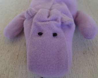 Vintage Plush Teenie Beanie Baby Hippo