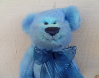 1be0273b745 Vintage Ty Jointed Plush Blue Teddy Bear 1993