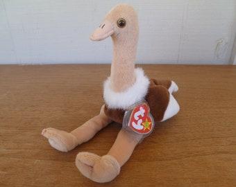 632161363d6 Vintage Plush Beanie Baby Ostrich