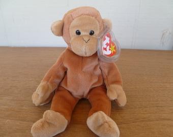 9267935a496 Vintage Plush Beanie Baby Monkey