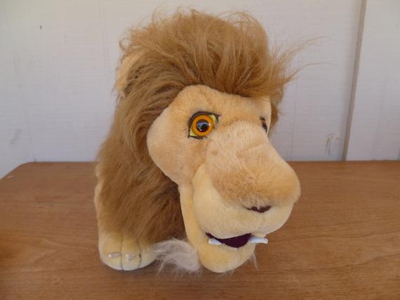 Vintage Large Plush Lion King Of The Jungle Etsy