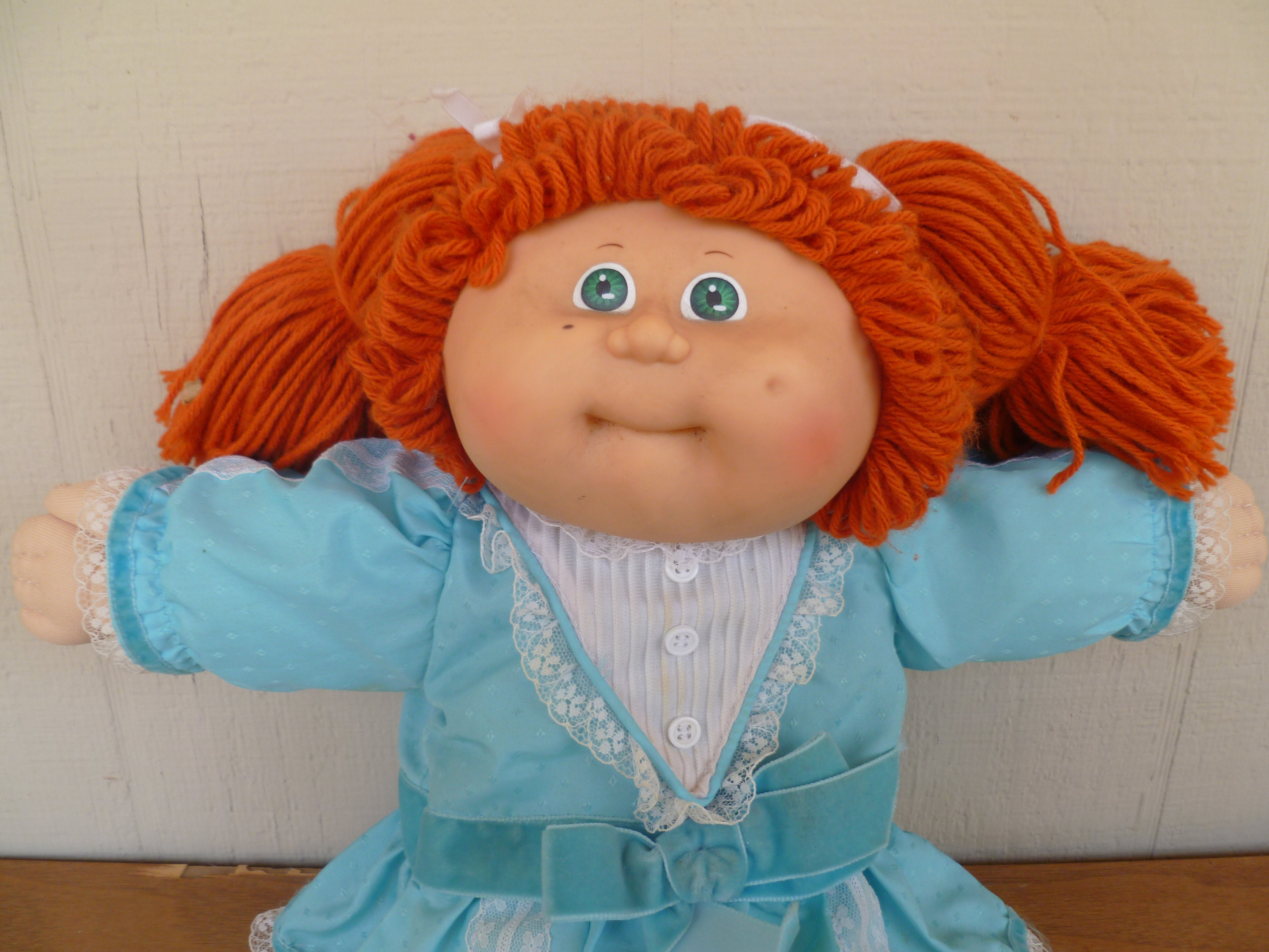 Cabbage Patch KIds Doll Red Hair Pigtails Green Eyes 1982