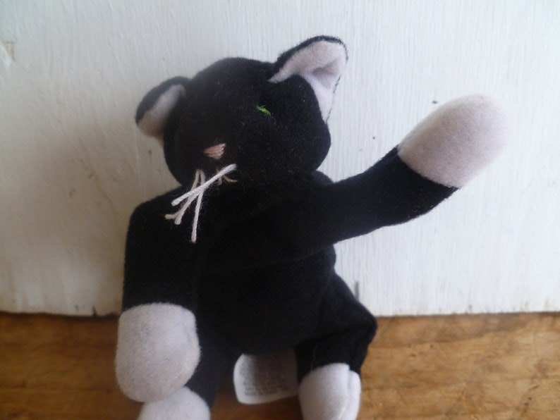 e6557a90b8f Vintage Plush Teenie Beanie Baby Black White Cat
