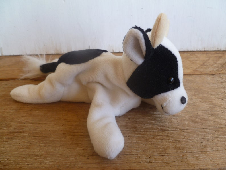 Vintage Black and White Cow Beanbag Plush  Zangreen 1998