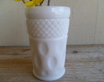 Beautiful Milk Glass Thumbprint Glass