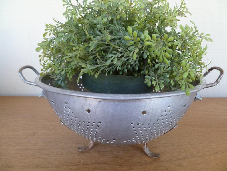 Vintage Stainless Steel Colander Strainer Bowl