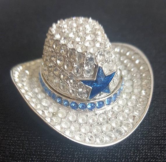 Estee Lauder Rhinestone Compact Cowboy Hat Blue St