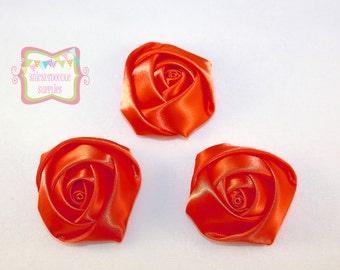 "SALE Orange Rosebud 1.8"" 3 Pieces #D220"