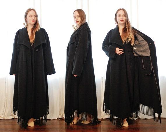 Vintage Italian black Cashmere wool blend  blanke… - image 6