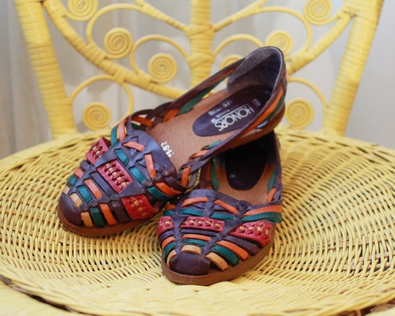 tiss tiss Vintage style Huarache mexicaine Vintage Huarache style Huarache mexicaine style mexicaine Vintage RaASqc7A