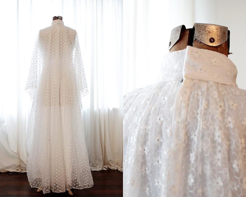 Daisy Print Wedding Dress