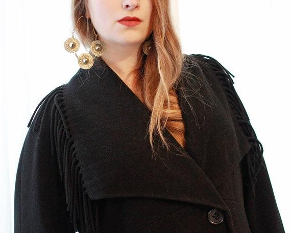 Vintage Italian black Cashmere wool blend  blanke… - image 2
