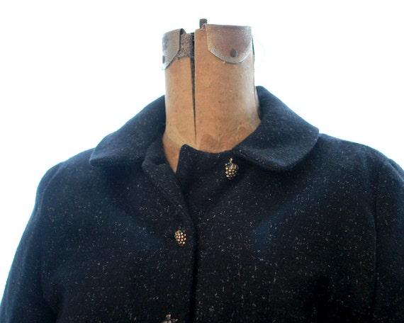 Petite Berry Cropped Peplum Button Tailored Wool Blackberry 1940s Jacket Raspberry Black Coat TwqSxgrTH
