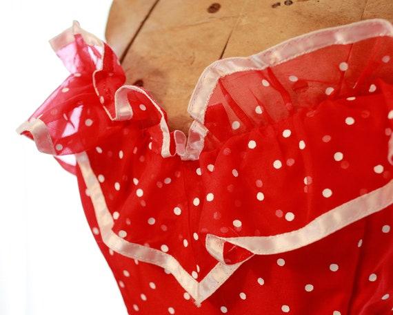 Rare vintage Gunne Sax Red white polkadot polka d… - image 7
