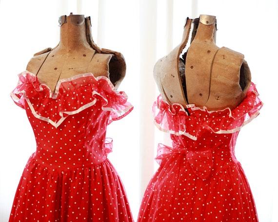 Rare vintage Gunne Sax Red white polkadot polka d… - image 6