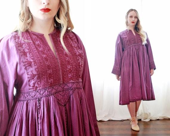 Vintage 1960s Afghani cotton embroidered bohemian
