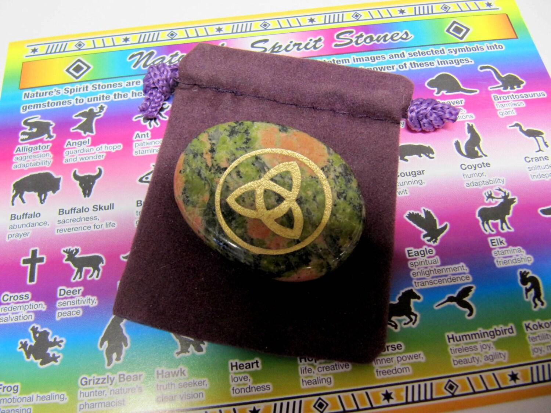 Gemstones Carved Stones Celtic Knot Totem Spirit Healing Etsy