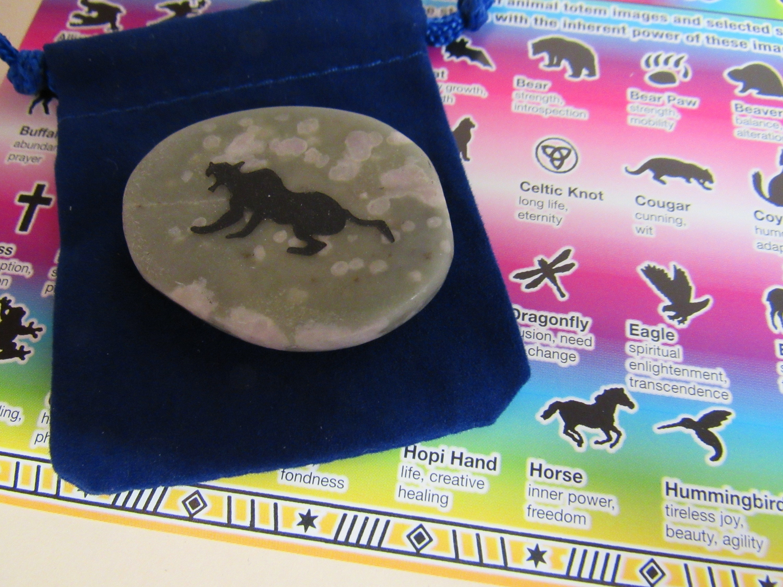 Gemstones Animalscougar Totem Spirit Healing Stones With Animals