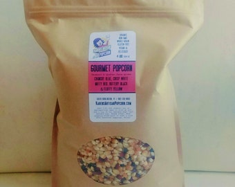 4 lb Gourmet Popcorn Kernel Mix - Made in Vermont - From organic Vermont and Canadian farms!