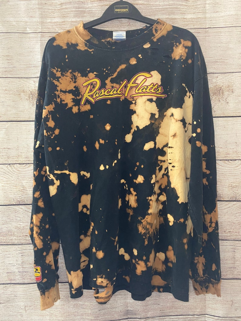 UPCYCLED country band distressed shirt