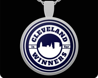 Cleveland is for Winners Silver Plated Pendant Necklace