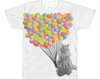 One Hundred  Balloons - 100th Day of School All-Over Printed T-Shirt