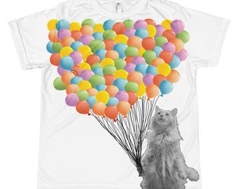 One Hundred  Balloons - 100th Day of School All-over youth sublimation T-shirt