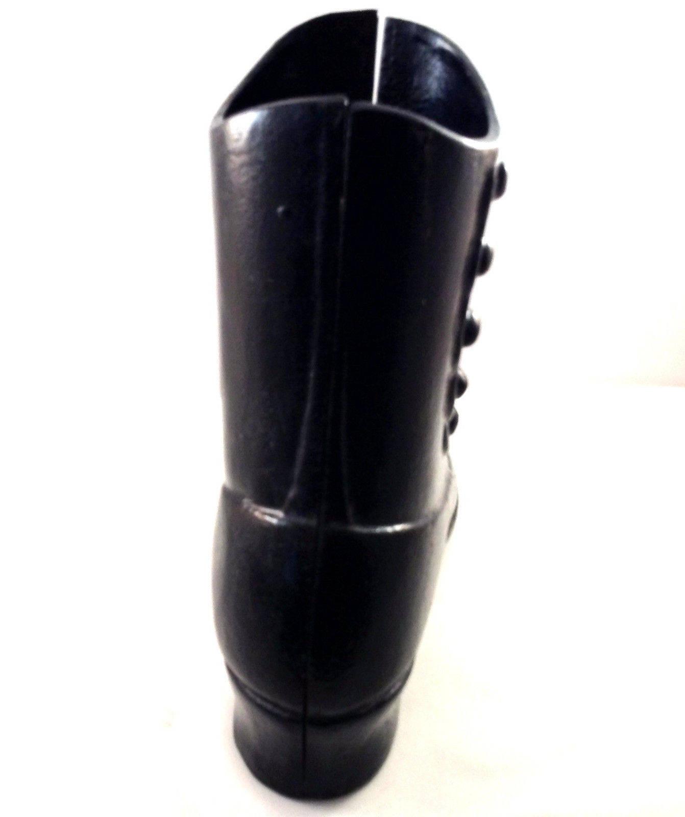 Victorian  botas  Door Stop negro negro negro Cast Iron 2 Pieces Button Up 8 1 2
