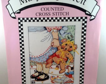 "Mary Engelbreit All Dressed Up Counted Cross Stitch Kit 9"" x 11"" MECS-1 OPEN Kit"
