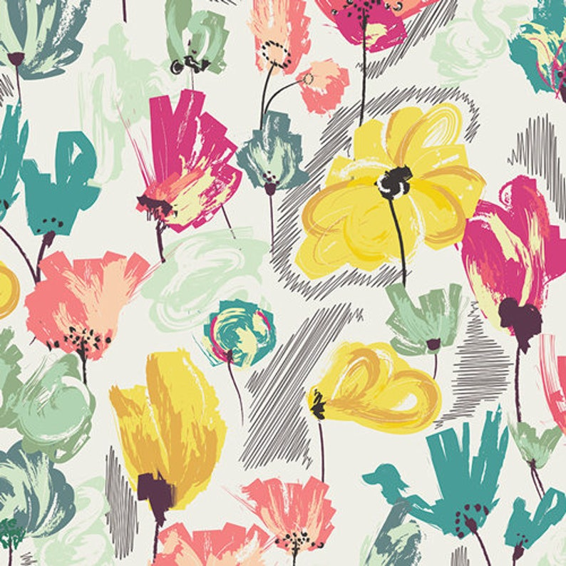 Floral Fitted Crib Sheet in Wild Beauty Pineapple