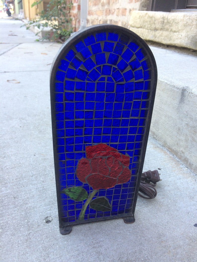 Stained Glass Mosaic Table Night light