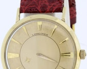 10K Gold Filled Longine Mystery Automatic Wrist Watch