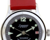 Sonadat 21 Jewel Submariner Automatic Swiss Movement Wrist Watch Stainless Steel Back Date Dial