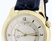 10K Gold filled Le Coultre Alarm Wrist Watch