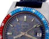 Diving Hilton Automatic Date Dial Stainless Steel Wrist Watch