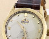 Lord Elgin Standard Oil Company and Gas Station Logoed Wrist Watch 10K Yellow Gold