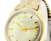 Bulova Accutron Stainless Steel and 10K Gold Filled Wrist Watch with Matching Buckle Bracelet