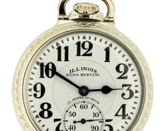 60 Hour Vintage Illinois Bunn Special 1929 14K Gold filled Pocket Watch 23 Jewel