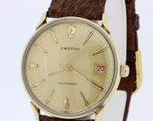 Selfwinding Croton 10K Rolled Gold Stainless Steel Wrist Watch