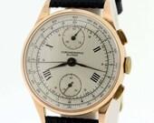 18K Gold  Suisse chronographe 1940s