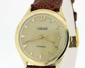 1960s Ulysse Nardin Chronometer Automatic Wrist Watch 14K Gold