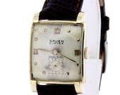 14K Yellow Gold Gruen Curvex Wrist Watch