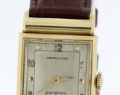 14K Yellow Gold Hamilton Wrist Watch 19Jewel Movement