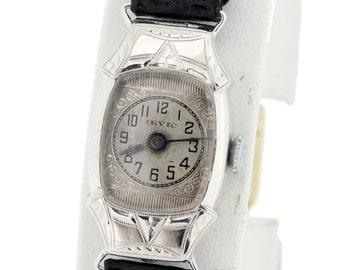 14K Gold Ladies IRVIC Wrist Watch