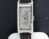 Glycine Platinum Wrist Watch with Diamond Dial