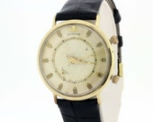 Le Coultre 10K Gold Filled Wrist Watch Alarm
