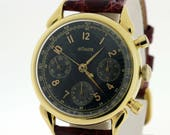 1950s LeCoultre wirst watch 18K yellow gold