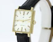 14K Hamilton Square Bezel Wrist Watch