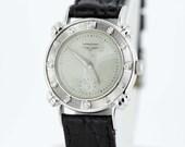 14K Gold Longines Diamond Bezel Wrist Watch